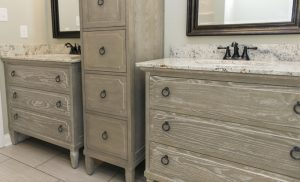 Ann Bathroom Furniture Vanity and Linen Cabinet