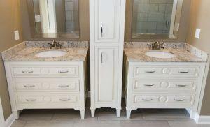 Mary Bathroom Furniture Vanities and Linen Cabinet