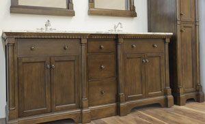 Renee Bathroom Furniture Vanity and Linen Cabinet