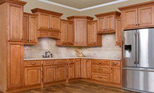 Savannah Sienna Glaze Kitchen Cabinets