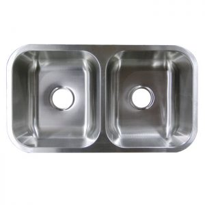Stainless Steel Sink - Double Bowl Undermount #UM32189