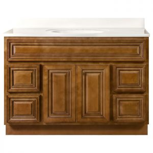 48 inch Bathroom Vanity Cabinet with Drawers - Charleston Coffee Glaze V4821D