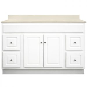 48 inch Bathroom Vanity Cabinet with Drawers - Glossy White V4818D, V4821D