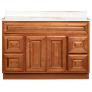 48 inch Bathroom Vanity Cabinet with Drawers - Savannah Sienna Glaze V4821D