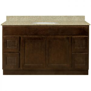 48 inch Bathroom Vanity Cabinet with Drawers - Shaker Espresso V4821D