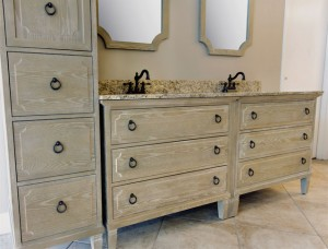 Ann Furniture Vanity, Mirrors, and Linen Cabinet
