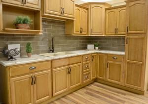 Appalachian Oak Kitchen Cabinet Display