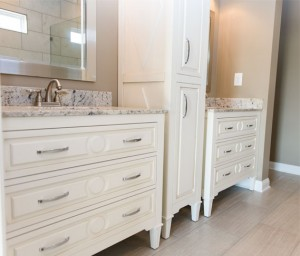 Mary Furniture Vanities and Linen Cabinet