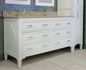 Mary Furniture Vanity and Linen Cabinet