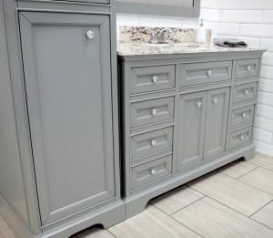 Megan Furniture Vanity, Mirror, and Linen Cabinet