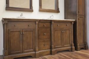 Renee Furniture Vanity, Mirrors, and Linen Cabinet
