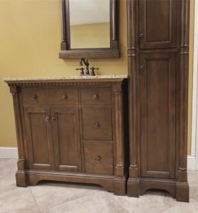 Renee Furniture Vanity, Mirror, and Linen Cabinet