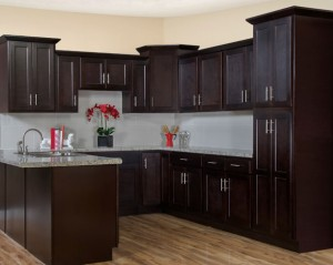 Shaker Espresso Kitchen Cabinet Display