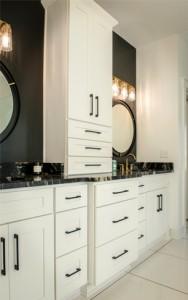 Shaker White Bathroom Cabinets