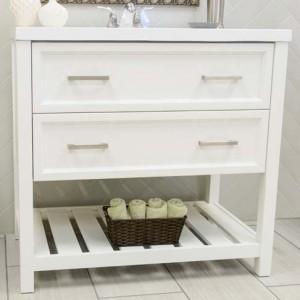 Sorento Contemporary Vanity in White